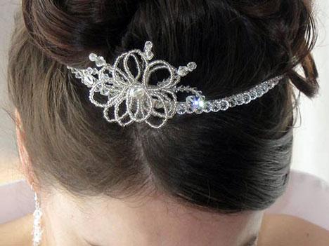 Silver Flower Tiara