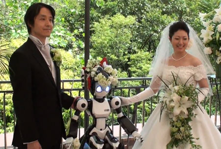 i-Fairy, the robotic wedding officiant :-)