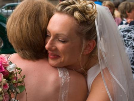 bride & guest