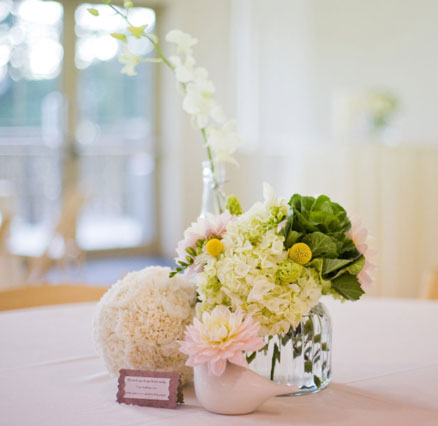 Bride Ca Simple And Beautiful Diy Centrepiece