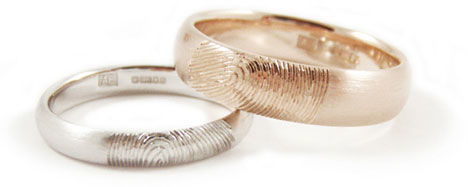 brideca Fingerprint Wedding Bands