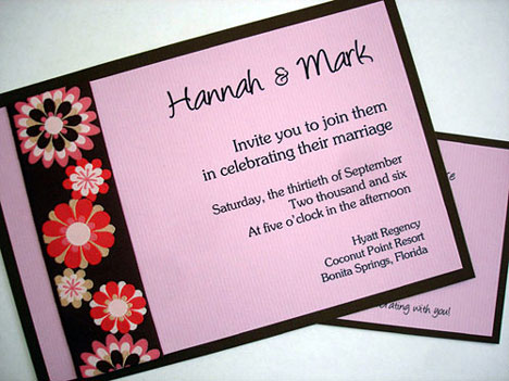 ultra-modern wedding invitation
