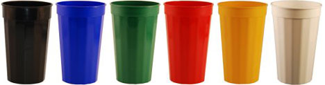 Fluted Plastic Wedding Cups