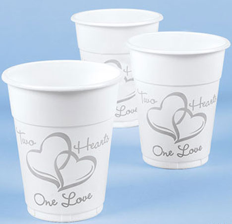 Hearts Logo Wedding Cup