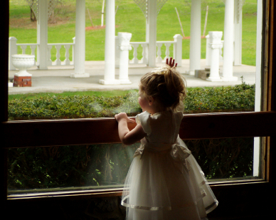 Toddler at a Wedding Reception