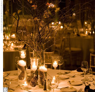 Wedding Decorationsbudget on Bride Ca   Some Dyi Winter Wedding Centrepieces