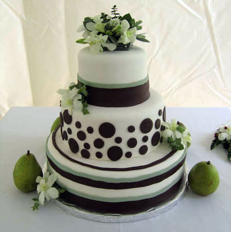 Christine's White Wedding cake design
