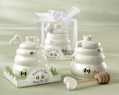 Ceramic Honey Pot spring wedding favors