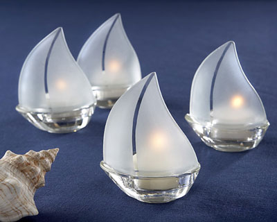 Sailboat Candles wedding favour