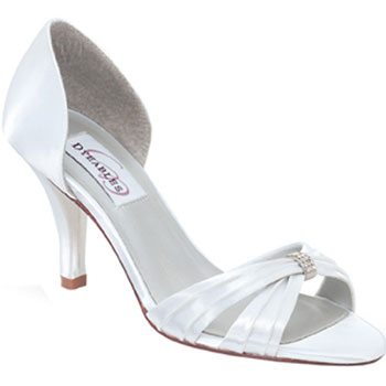 For the bride who wants a smidgen of sparkle in her wedding day shoes