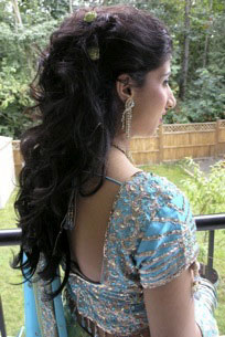 Half Up Half Down bridal hairstyle, by Sharon Rai, Nanaimo