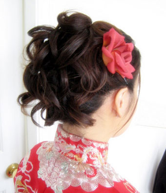Messy up-do bridal hairstyle, by Michelle Makeup, Vancouver