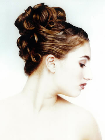 bridal hair updo hairstyles. Another Un-done up-do bridal hairstyle, by John di Bratto, Toronto