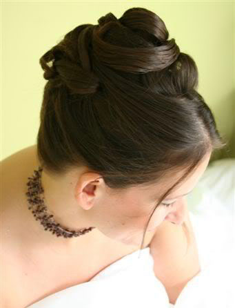 wedding hair half up. Bridal structured Up-Do,