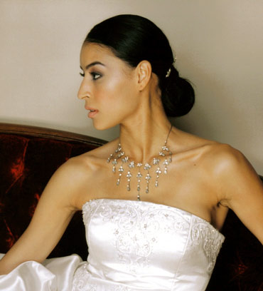 When choosing your bridal hairstyle, instead of something trendy and modern,