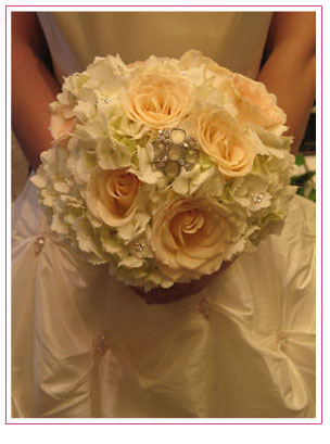 Mixed White Flowers bridal bouquet