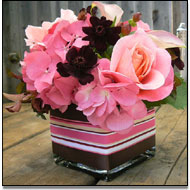 cube vase wedding centrepieces