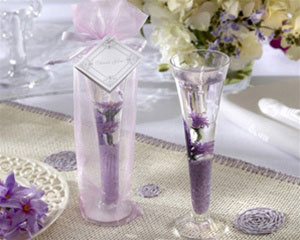 Lavender gel candle, spring wedding favour