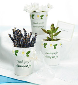 customized flower pots, spring wedding favour boxes