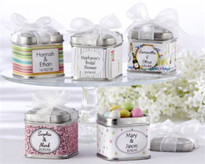 tin favour boxes, spring wedding favour boxes
