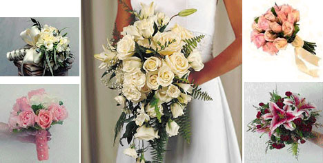 Silk bridal bouquets