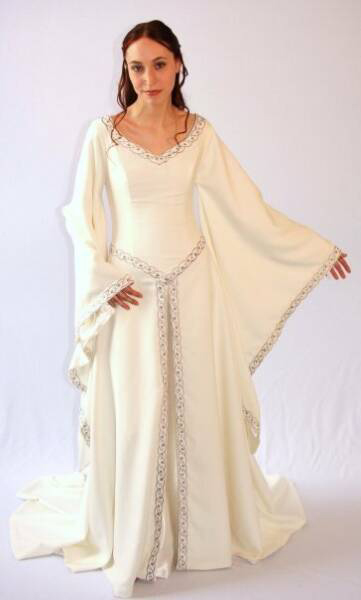 Renaissance wedding gown by Rvendell Bridal