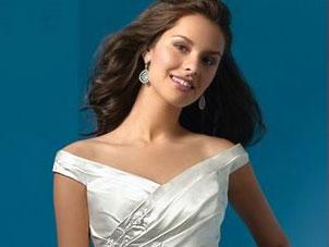 Alfred Angelo Off-the-Shoulder wedding dress, #2032