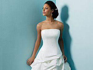 Alfred Angelo strapless wedding dress, #1645
