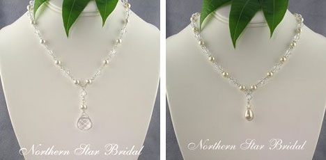 Necklesses suited to sweetheart wedding dresses