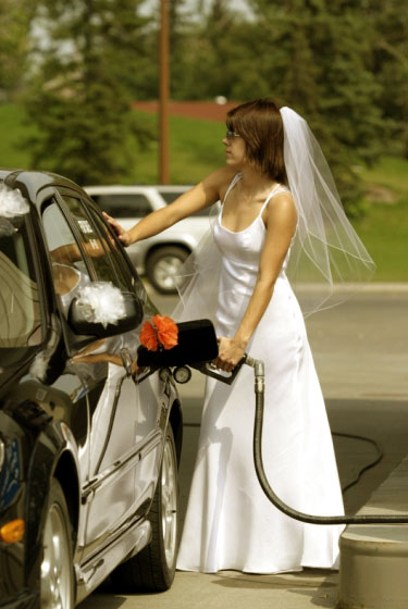 Bride, filling up, by Spindrift Photo
