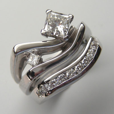 double-diamond wedding ring