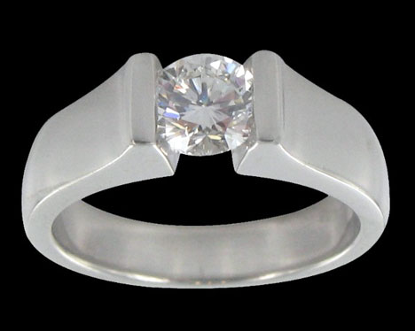 unpolished platinum wedding ring
