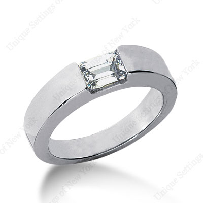 ultra-modern, minimalistic wedding diamond ring