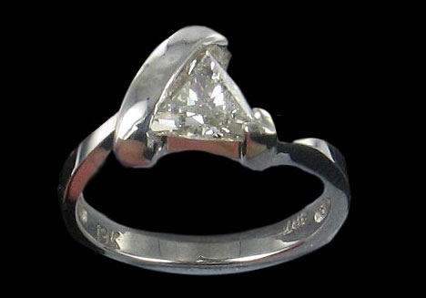 triangular diamond engagement ring
