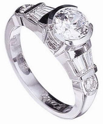 ultra-modern engagement ring