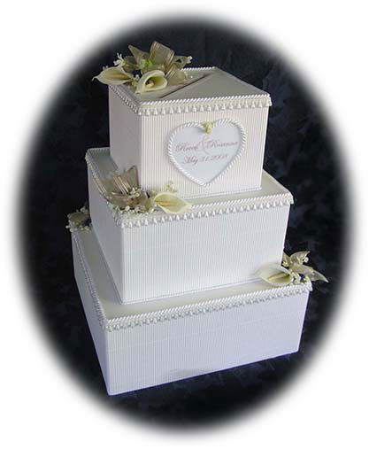 cake wedding money box Floral 3 Tier Cake Money Box 14w 14d 195h