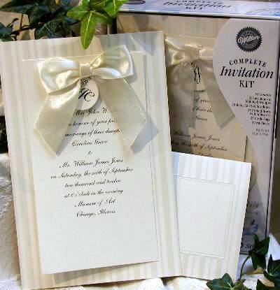 Bride Ca Diy Wedding Invitations Print Your Own Kits By Wilton