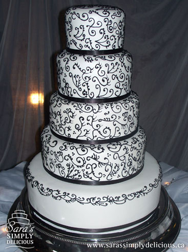 black and white themed wedding cakes black and white unique tiered modern wedding cake 11842